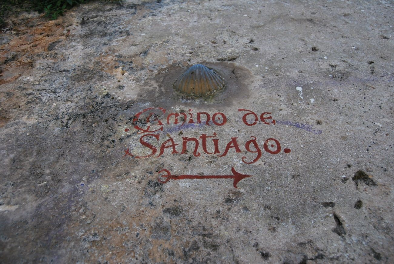 Indicación Camino Santiago