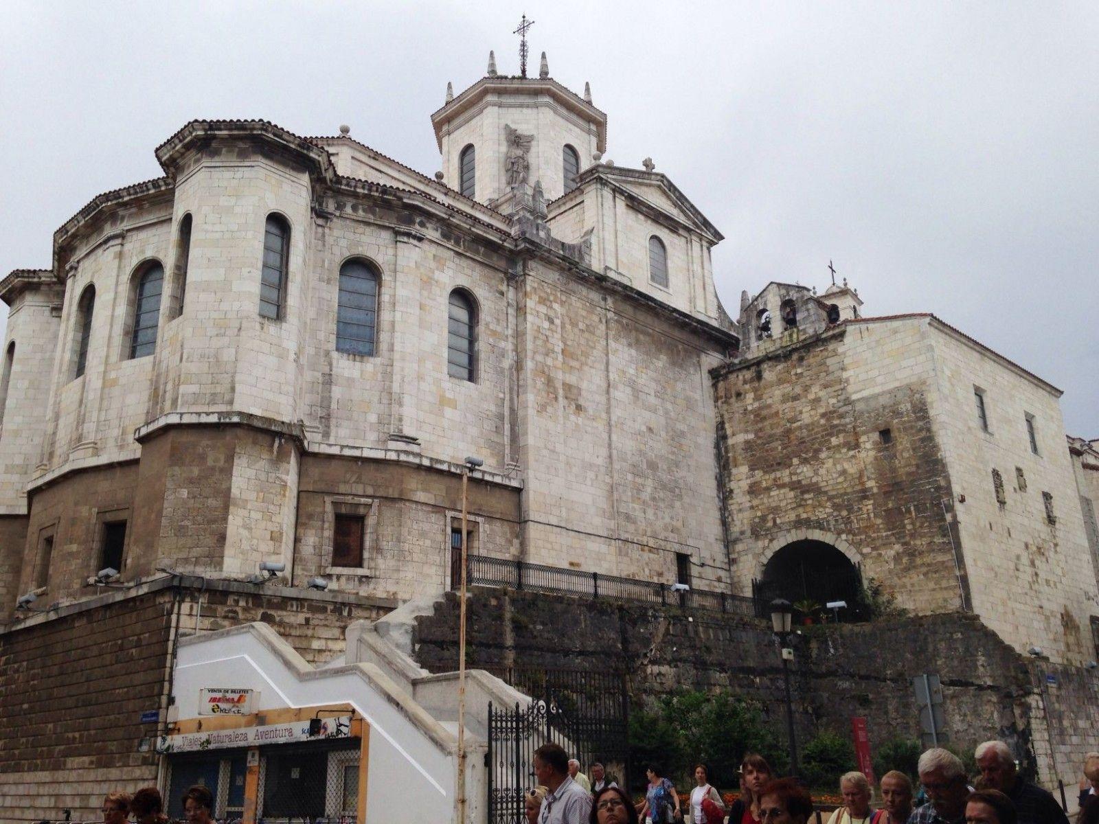 Catedral de Santander en el Camino del Norte en Cantabria